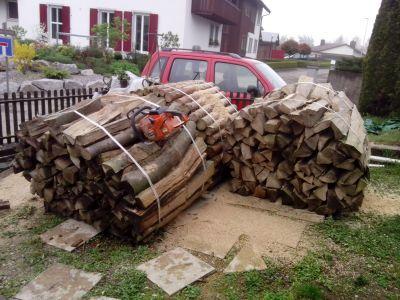 3 Ster Holz sind bereit