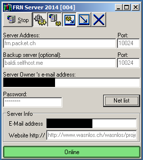 FRN System-Manager von unserem Server am Abend des 27.03.2015 wieder erreichbar
