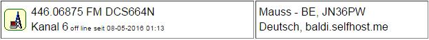 PMR Gateway Bern (Maus) seit 08.05.2016 Offline