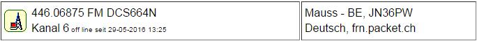PMR Gateway Bern (Maus) seit 29.05.2016 Offline