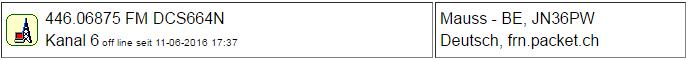 PMR Gateway Bern Maus seit 11.06.2016 Offline