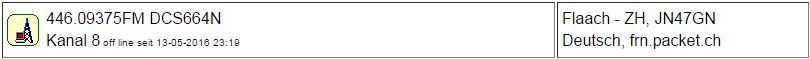 PMR Gateway Flaach seit 13.05.2016 Offline