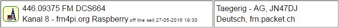PMR Gateway Taegerig seit 27.05.2016 Offline