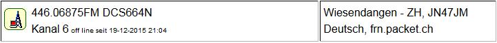 Gateway Wiesendangen seit 19.12.2015 Offline