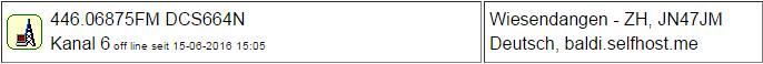 PMR Gateway Wiesendangen seit 15.06.2016 Offline