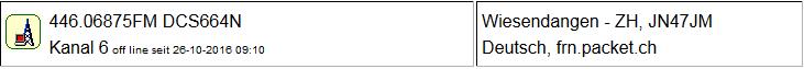PMR Gateway Wiesendangen seit 26.10.2016 Offline