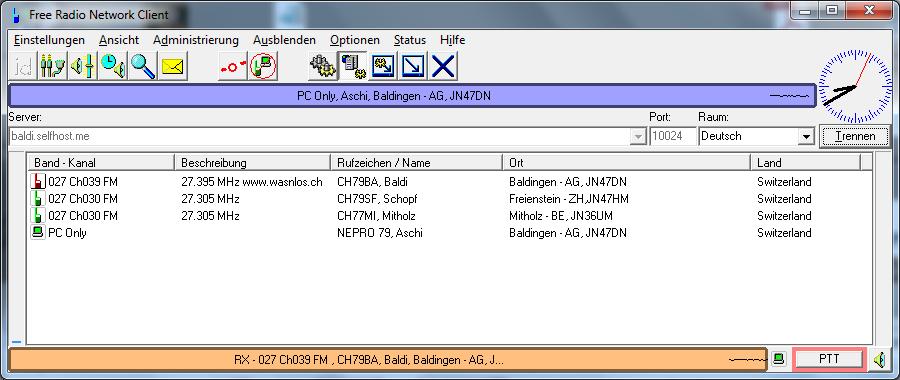 Gateway empfängt vom Äther und sendet auf VOIP (Internet)