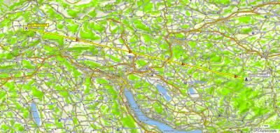 Karte der PMR Verbindung zum Gateway St. Iddaburg