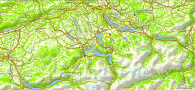 Karte der PMR-Verbindung von Delta Radio 79 auf dem Brienzer Rothorn auf den Gateway Bäretswil