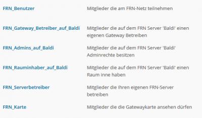 FRN Nutzergruppen auf www.wasnlos.ch