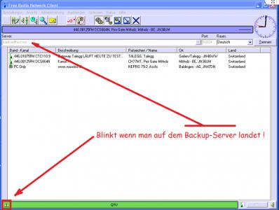 PMR Gateway Mitholz am 22.11.2015 um ca. 21:20 Uhr auf dem Backup-Server