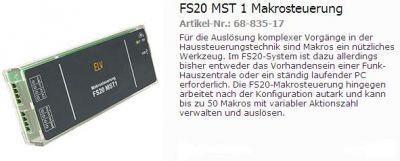 FS20MST Makrosteuerrung
