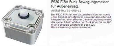 FS20PIR Infrarot Bewegunssensor