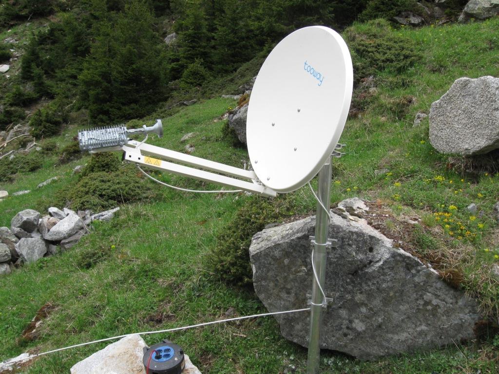 Satellitenschüssel für Internet
