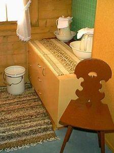 Waschmöglichkeit im Zimmer