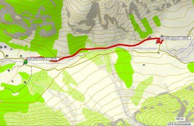 Karte von der Fahrt von Selden zum Berggasthaus Heimritz vor dem 10. Oktober 2011