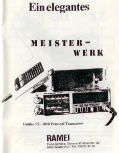 Inserat von 1986 vom Funkladen RAMEI in Winterthur