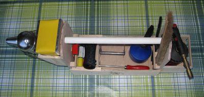 Imker-Werkzeugkiste von oben