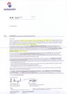 Seite 1 des 'Einleitungsbriefes' zu den AGB-Anpassung