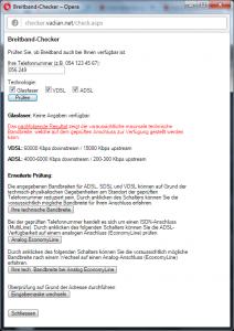 Breitband-Check zu Hause bei Aschi am 27.04.2016