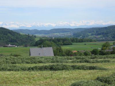 Berge von Buchberg aus zu sehen