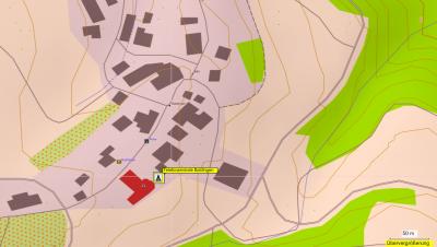 Standort der Richtfunkschüssel in Baldingen