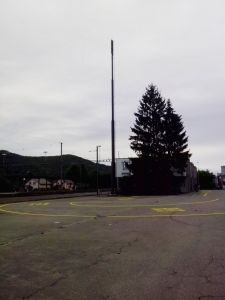 Bus-Spur beim Rekinger Bahnhof