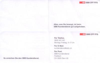 Kundencenter der SBB