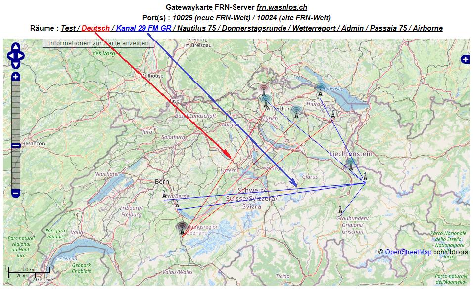Visualisierung der Gatewakarte vom 22.09.2020