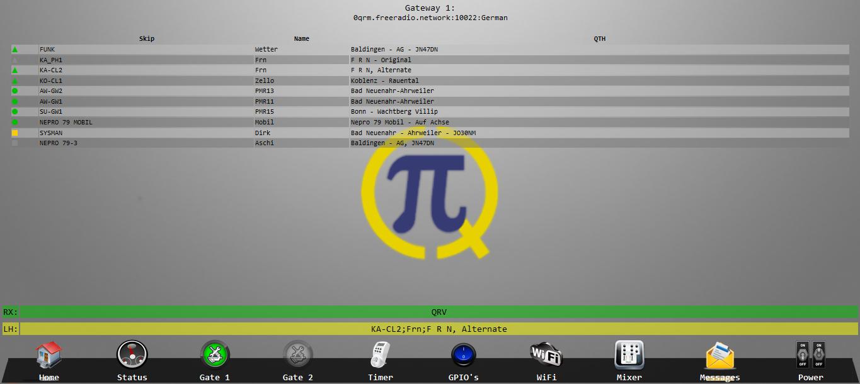 PiCQ V1.29 Homebildschirm