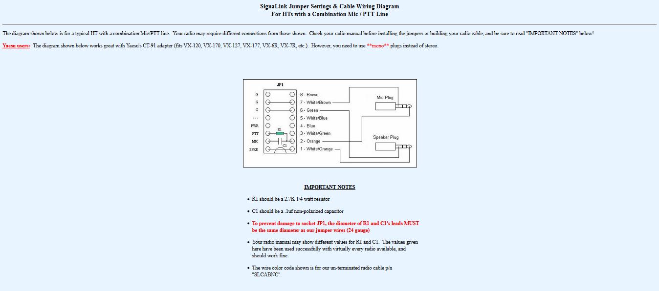 Wie ein Handfunkgerät das TX und Mic auf dem selben Anschluss erwartet, an das Signalink angeschlossen werden soll