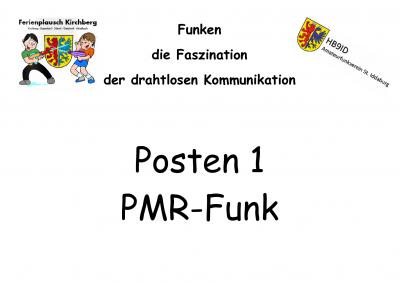 Fereinplausch-Kirchberg 2015 Postenblatt 'PMR-Funk'