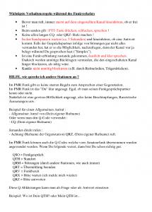 A5 Blatt Verhaltensregeln für Funker