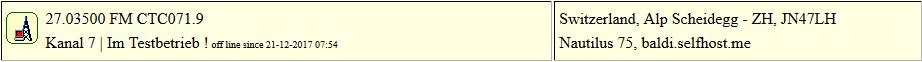 CB Gateway Scheidegg seit 21.12.2017 um 07:54 Uhr Offline