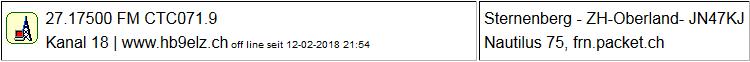 CB Gateway Sternenberg seit 12.02.2018 um 21:54 Uhr Offline