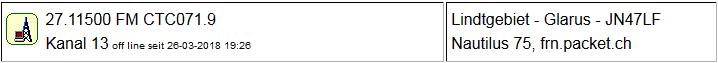 CB Gateway Linthgebiet seit 26.03.2018 um 19:26 Uhr Offline