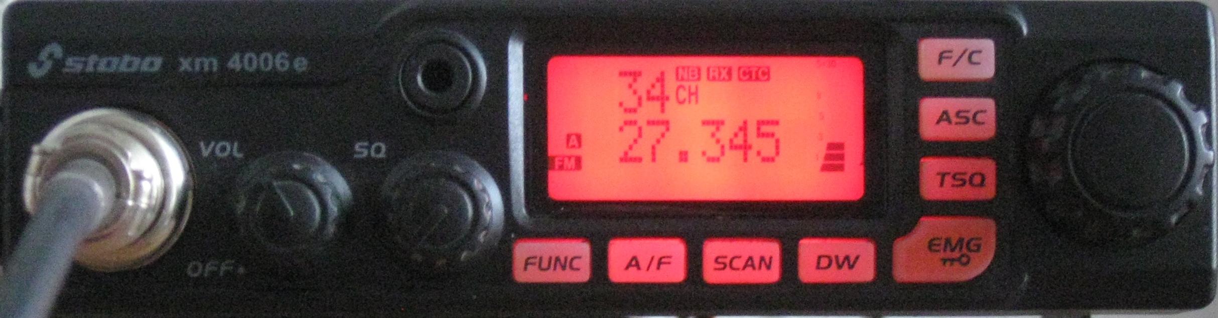 QRM-Pegel auf Kanal 34 in Baldingen am 17.10.2018 um ca 15:30 Uhr