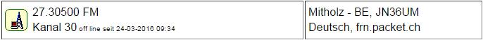 CB Gateway Mitholz seit 24.03.2016 um 9:34 Uhr Offline