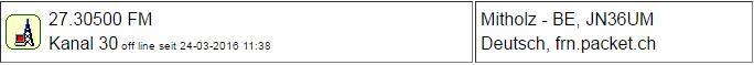 CB Gateway Mitholz seit 24.03.2016 um 11:38 Uhr Offline