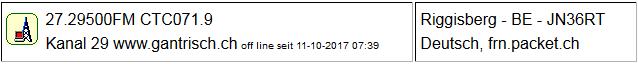 CB Gateway Riggisberg seit 11.10.2017 Offline