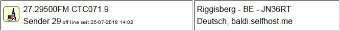 CB Gateway Riggisberg seit 25.07.2018  Offline
