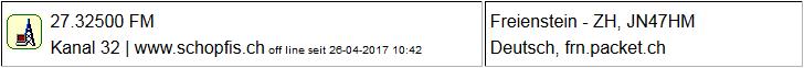 CB Gateway Schopf seit 26.04.2017 Offline