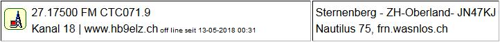 CB Gateway Sternenberg seit 13.05.2018  Offline