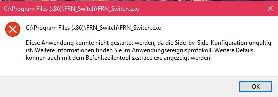 Eventueller Fehler beim starten von FRN_Switch