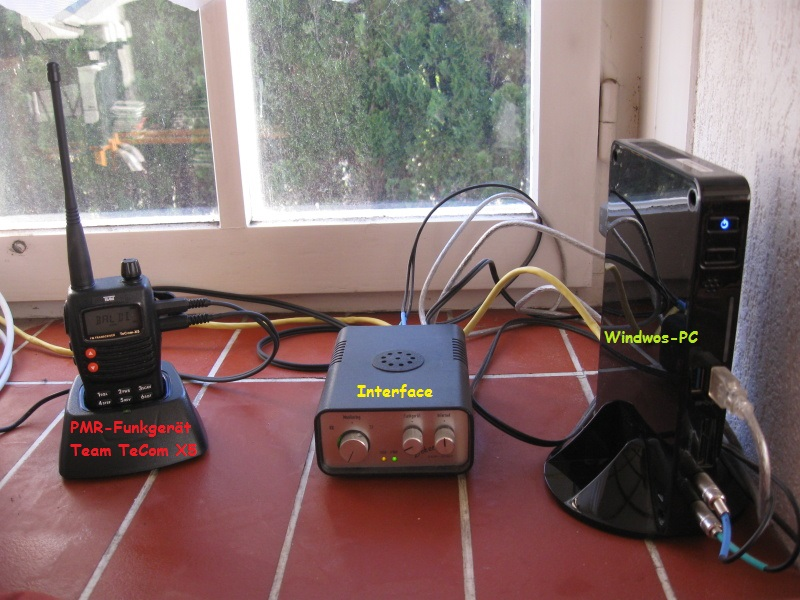 Mein PMR Gateway Baldi mit Bezeichnung der Hardware