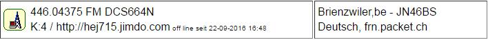 PMR Gateway Brienzwiler seit 22.09.2016 Offline