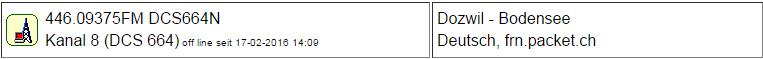 Gateway Dozwil seit 17.02.2016 Offline