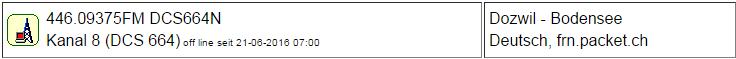 PMR Gateway Dozwil seit 21.06.2016 Offline