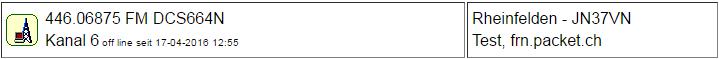 PMR Gateway Rheinfelden seit 17.04.2016 Offline