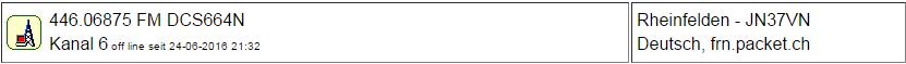 PMR Gateway Rheinfelden seit 24.06.2016 Offline